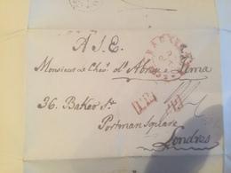 Lettre De Bruxelles / Londres - D. Lourenço José Xavier De Lima, 1.º Conde De Mafra - Le Chevalier De Abreu E Lima 1832 - Manuscrits