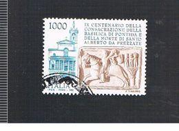 ITALIA REPUBBLICA  - UNIF. 2221 -   1995 BASILICA DI PONTIDA  -            USATO - 6. 1946-.. Repubblica