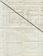 Facture De 1844 De Jadot Ahin Huy Fourniture De Bois - Belgium