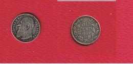 Belgique  --  50 Centimes 1907 -  Km 61.1  --  état TB+ - 1865-1909: Leopold II