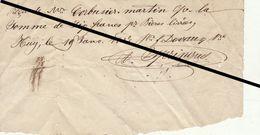 Reçu De 1847 Huy Livraison De Bière Devaux - Belgium