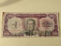 1000 Pesos 1975 - Uruguay