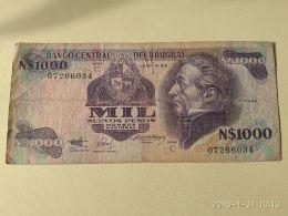 1000 Pesos 1991 - Uruguay