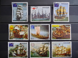 "Paraguay 1980  N° Y&T  1727/33 + PA 843/44    "" Bateaux Anciens Expos Philateliques  ""   Used   9V - Paraguay"