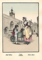 LOT 2 GRAVURES  ANCIENNES - CRIES LONDON, Vendeuse De 4 Saisons Cerises Douces, Carottes Et Navets - Estampes & Gravures
