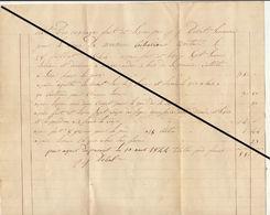 Facture De 1844 Huy Debot Serrurier - Belgium