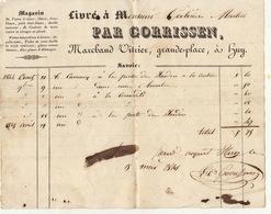 Facture De 1845 Huy Gorrissen Vitrier - Belgium