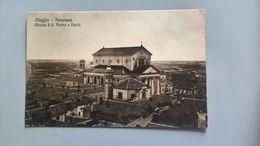 CARTOLINA OLEGGIO - PANORAMA, CHIESA SS. PIETRO E PAOLO - Novara