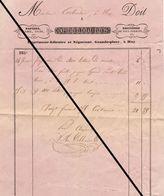 Facture De 1850 Huy Delhaise Papier Plume Encre Imprimeur Libraire - Belgium