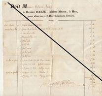 Facture De 1853 Huy Hubert Danze Maître Maçon - Belgium