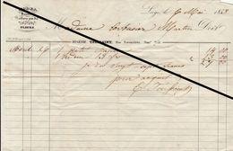 Facture De 1853 Liège Eugenie Toussaint Coiffure Pour Bal Mode - 1800 – 1899