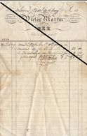 Facture De 1844 Ben Ahin Huy Victor Martin Tuile Carreaux - 1800 – 1899