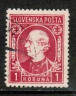 SLOVAKIA  Scott # 31 VF USED - Slovakia