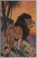 Löwe Lions Leones Lioni - Künstlerkarte 1835 - Lions
