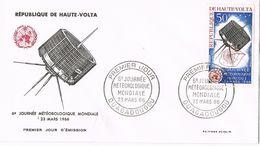 27348. Carta F.D.C. OUAGADOUGOU (Haute Volta) 1966.  Jornadas Meteorologia, Clima - Upper Volta (1958-1984)