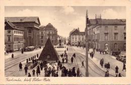 ALTE  Foto- AK   KARLSRUHE / BW   - Adolf Hitler Platz - 1937 Gelaufen - Karlsruhe