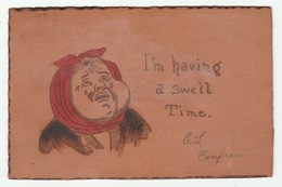 Belle CPA En CUIR Voyagé Avec Timbre Canada En 1905 -  Thème Dentisterie - Rage De Dent / Dent / Dentiste - Ansichtskarten