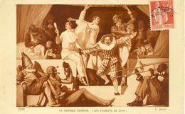 La Comédie Humaine Les Faiseurs De Rire  Danseurs Faisant La Fête Avec Un Joueur De Trombone  Cpa - Musique Et Musiciens