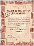 Action Ancienne - Sté Anonyme Des Ateliers De Construction De La Meuse - Titre De 1946 - - Mines