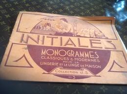 Initiale Monogramme Classique Et Modern Pour La Lingerie Collections N3 Coton à Broder - Vieux Papiers