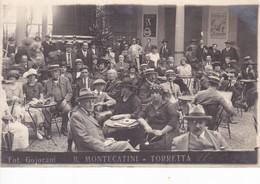 B.MONTECATINI - TORRETTA. FOT. GOJORANI. HOTEL. RESTAURANT. GROUPE DES GENS. VINTAGE-VOYAGEE-TBE-BLEUP - Hotel's & Restaurants