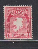 IRELAND Scott # 107 Used - Map Of Ireland - 1949-... Republic Of Ireland