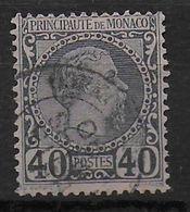 MONACO - YVERT N° 7 OBLITERE  - COTE = 60 EURO - - Monaco