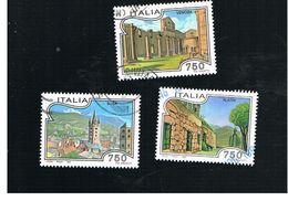 ITALIA REPUBBLICA  - UNIF. 2199.2202.            -   1995 TURISTICA: VENOSA, ALATRI, SUSA            -            USATO - 6. 1946-.. Repubblica