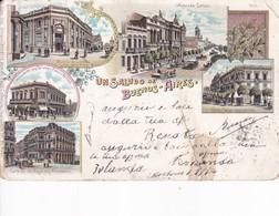 UN SALUDO DE BUENOS AIRES. MULTI VISTA VU VIEW. GIORGIO STERNFELD.-CIRCULEE TO NAPLES-ARGENTINE-BLEUP - Hotel's & Restaurants