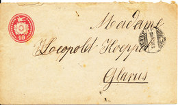 Switzerland Postal Stationery Cover Bienne 5-3-1870 Sent To Glarus - Stamped Stationery