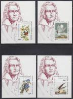Mauritania (1985) Various Birds. Audubon. Set Of 4 Imperforate S/S.  Scott Nos C238-41, Yvert Nos PA230-3. - Collezioni & Lotti