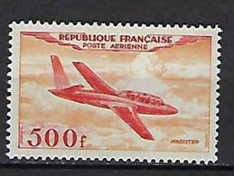 "FR Aerien YT 32 (PA) "" Prototype : Magister "" 1954 Neuf** - 1927-1959 Mint/hinged"