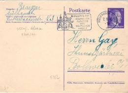 1942-Germania Intero Postale 6p.Effigie Di Hitler Annullo Meccanico Di Bollwerk - Germania