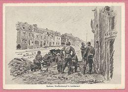 59 - LAMBERSART - Guerre 39/45 - Soldatenkalendar - Strassenkampf - Wehrmacht - Soldats Allemands - Signée BUCHNER - Lambersart
