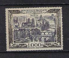 """FR Aerien YT 29 (PA) """" Vue De Paris 1000F. """" 1949 Neuf** - 1927-1959 Mint/hinged"""