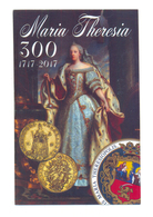 SERBIAN NUMISMATICS  POSTCARD MARIA THERESIA 300 YEAR 1717-2017 - Coins (pictures)
