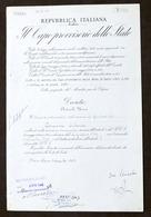 Decreto Repubblica Italiana Con Autografo De Nicola E Pacciardi - 1947 - Autographes