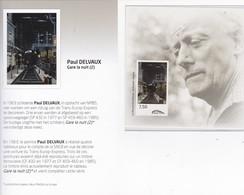 PAUL DELVAUX TRV/BL 16  ONGETAND COTE 60€ - Chemins De Fer