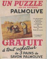 CARTON UN PUZZLE JEU DE PATIENCE PALMOLIVE GRATUIT A TOUT ACHETEUR DE 3 PAINS DE SAVON PALMOLIVE - Perfume & Beauty
