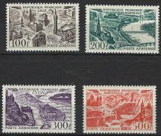 """FR Aerien YT 24 à 27 (PA) """" Vues De Grandes Villes """" 1949 Neuf** - 1927-1959 Mint/hinged"""