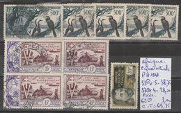 TIMBRES DE A-E-F  EN LOT OBLITEREES + NEUF( * ) Nr VOIR SUR PAPIER AVEC LES TIMBRES  COTE 69.75€ - A.E.F. (1936-1958)
