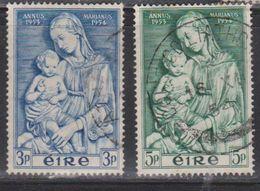 IRELAND Scott # 151-2 Used - Madonna By Della Robbia - 1949-... Republic Of Ireland