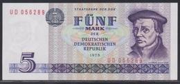Deutsche Demokratische Republik 5 Mark 1975 UNC - [ 6] 1949-1990 : GDR - German Dem. Rep.