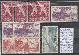 TIMBRES DE L OCEANIE EN LOT OBLITEREES ( * )  Nr VOIR SUR PAPIER AVEC LES TIMBRES  COTE 74.40€ - Océanie (Établissement De L') (1892-1958)