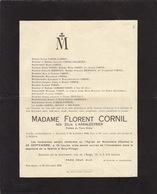 Florent Cornil Zélie L'arbalestrier Famille Lambin Gilliaux Cambier Voisin Préfète Tiers Ordre Marcinelle 1923 - Obituary Notices