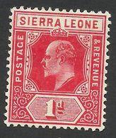 Sierra Leone, 1 P. 1907, Sc # 91, Mi # 69, MH. - Sierra Leone (...-1960)