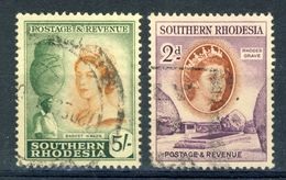 Southern Rhodesia 1953 VF Used 1 High And 1 Low Value Of The Definitive Set - Africa (Other)