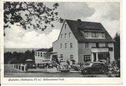 Alte Postkarte GLASHÜTTEN/Taunus - Waldrestauran Veidt (mit Alten PKW U.a. VW Käfer Brezel) - PKW