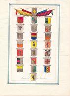 COPIES DE LITHOGRAPHIES ARMES DES CANTONS FORMAT 24 X 15 ET DEUX PAYSAGES FORMAT 11 X 14 CHACUN - Vieux Papiers