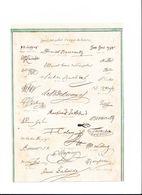 COPIES DE LITHOGRAPHIES DE DIUFFERENTES SIGNATURES ET LITHOGRAPHIE DE JEAN JACQUES ROUSSEAU FORMAT 17 X 23 CHACUNE - Vieux Papiers